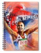2012 Heptathlon Olympics Gold Medal Jessica Ennis  Spiral Notebook