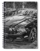 2013 Ford Shelby Mustang Gt 5.0 Convertible Bw  Spiral Notebook