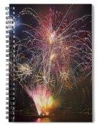 2013 Independence Day Fireworks Display On Portland Oregon Water Spiral Notebook