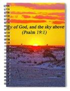 2014 03 12 02 A Psalm 19 1 Spiral Notebook