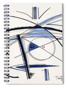 2014 Abstract Drawing #1 Spiral Notebook