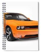 2014 Dodge Challenger Muscle Car Spiral Notebook