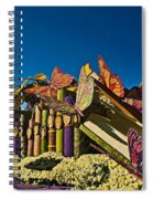 2015 Rose Parade Float With Butterflies 15rp044 Spiral Notebook