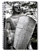 20th Century Gothic Revival Knight Statue Chicago Usa Spiral Notebook