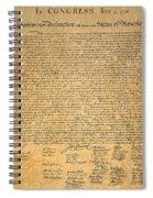 Declaration Of Independence Spiral Notebook