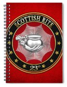 23rd Degree - Chief Of The Tabernacle Jewel On Red Leather Spiral Notebook