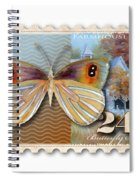 24 Cent Butterfly Stamp Spiral Notebook