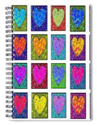 24 Hearts In A Box Spiral Notebook