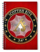 24th Degree - Prince Of The Tabernacle Jewel On Red Leather Spiral Notebook