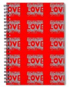 25 Affirmations Of Love In Red Spiral Notebook