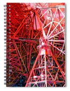 26 East Antenna Abstract 2 Spiral Notebook