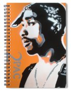 2pac In Orange Spiral Notebook