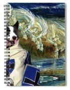 Karelian Bear Dog Art Canvas Print Spiral Notebook