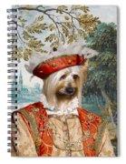 Silky Terrier Art Canvas Print Spiral Notebook