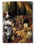 Welsh Springer Spaniel Art Canvas Print Spiral Notebook