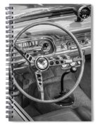 1963 Ford Falcon Sprint Convertible Bw  Spiral Notebook