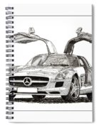 Gull Wing Mercedes Benz S L S Gull-wing Spiral Notebook