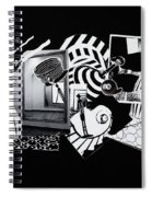 2d Elements In Black And White Spiral Notebook