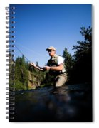 A Fly-fisherman In The Truckee River Spiral Notebook