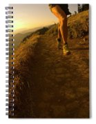 A Young Woman Runs Along The Dog Spiral Notebook