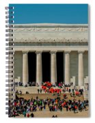 Abraham Lincoln Memorial In Washington Dc Usa Spiral Notebook