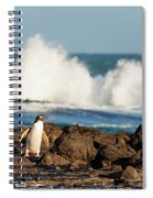 Adult Nz Yellow-eyed Penguin Or Hoiho On Shore Spiral Notebook