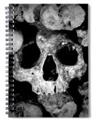 Altered Image Of Skulls And Bones In The Catacombs Of Paris France Spiral Notebook