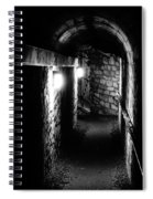 Altered Image Of The Catacomb Tunnels In Paris France Spiral Notebook