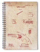 Antique Smith And Wesson Patent For A Metallic Cartridge 1860 Spiral Notebook