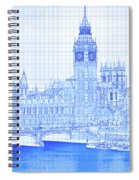 Arch Bridge Across A River, Westminster Spiral Notebook