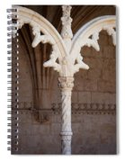 Architectural Details Of Jeronimos Monastery In Lisbon Spiral Notebook