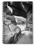 Avalanche Gorge Glacier National Park  Bw  Spiral Notebook