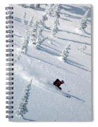 Backcountry Ski Traverse In Glacier Spiral Notebook