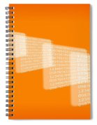 Background Numbers Spiral Notebook