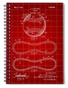 Baseball Patent 1927 - Red Spiral Notebook