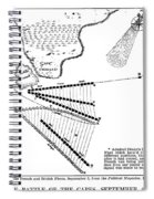 Battle Of Virginia Capes Spiral Notebook