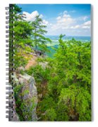 Beautiful Aerial Landscape Views From Crowders Mountain North Ca Spiral Notebook
