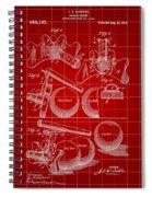 Billiard Bridge Patent 1910 - Red Spiral Notebook