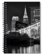 Black And White Cleveland Iconic Scene Spiral Notebook
