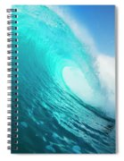 Blue Ocean Wave Spiral Notebook