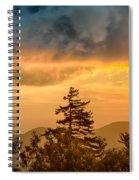 Blue Ridge Parkway Autumn Sunset Over Appalachian Mountains  Spiral Notebook