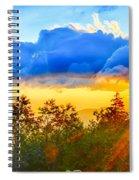 Blue Ridge Parkway Late Summer Appalachian Mountains Sunset West Spiral Notebook