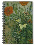 Butterflies And Poppies Spiral Notebook