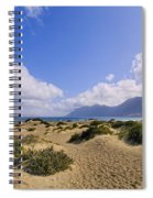 Caleta De Famara Beach On Lanzarote Spiral Notebook