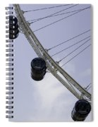 3 Capsules Of The Singapore Flyer Along With The Spokes And Base Spiral Notebook