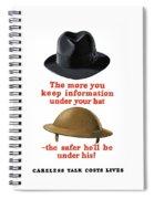 Careless Talk Costs Lives Spiral Notebook