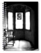 3 Castle Rooms Bw Spiral Notebook