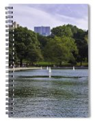 Central Park Pond Spiral Notebook
