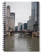 Chicago Skyline And Streets Spiral Notebook
