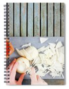 Chopping Onions Spiral Notebook